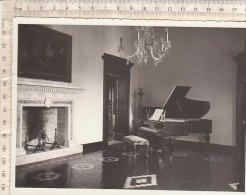 C1551 - FOTOGRAFIA  ARREDI VILLA PATRONALE - CAMINO - PIANOFORTE A CODA - Oggetti