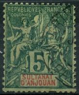 Anjouan (1892) N 4 (o) - Gebruikt