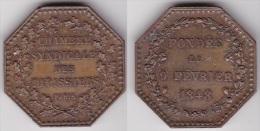 JETON De La CHAMBRE SYNDICALE Des TAPISSIERS 1848 En Cuivre, Diamètre 33 Mm (voir Scan) - Professionals / Firms