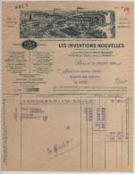 Facture LES INVENTIONS NOUVELLES Pont-Saint-Pierre Douville-sur-Andelle ( Eure) 1936 Jeux Et Jouets Sportifs - Francia