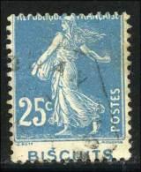N°140 - Bde Pub - Piquage Décalé - B/TB - Curiosités: 1921-30 Oblitérés