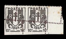 Mau N°670f - Paire - BDF - Rousseurs - Signé Calves - Errors & Oddities