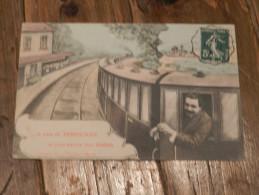 CARTE POSTALE ANCIENNE / JE PARS DE PERPIGNAN ..... CARTE HUMORISTIQUE / ANNEE 1907 - Perpignan