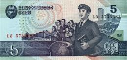 NORTH KOREA 5 WON BANKNOTE 1998 PICK NO.40 UNCIRCULATED UNC - Korea (Nord-)