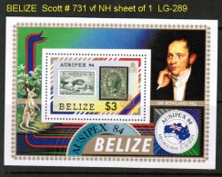 BELIZE   Scott  # 731**  VF MINT NH SHEET Of 1 - Belize (1973-...)