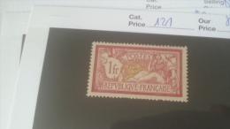 LOT 227035 TIMBRE DE FRANCE NEUF* N�121 VALEUR 31 EUROS