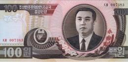 NORTH KOREA 100 WON BANKNOTE 1992 PICK NO.43 UNCIRCULATED UNC - Corea Del Nord