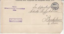 POLAND / GERMAN ANNEXATION 1909  LETTER  SENT FROM  GUBIN TO ZBASZYN - ....-1919 Übergangsregierung