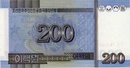 NORTH KOREA 200 WON BANKNOTE 2005 PICK NO.48 UNCIRCULATED UNC - Corée Du Nord