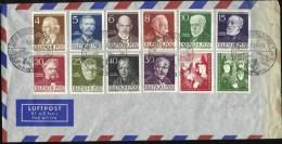 Série Des Berlinois Célèbres Et Oeuvres Pour La Jeunesse Sur Enveloppe Oblitérée De La Journée Des Dentistes Du 19-9-53 - [5] Berlin