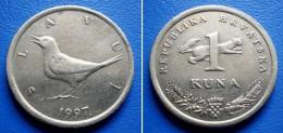 CROATIA  1 Kuna 1997 NIGHTINGALE (SLAVUJ) - Kroatien