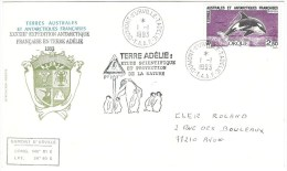 Lettre Avec Cachets Illustrés De La 43ème Expédition En Terre Adélie - Tierras Australes Y Antárticas Francesas (TAAF)
