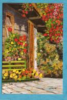 CARTE PEINTRES DE LA BOUCHE -NATALINA MARCANTONI - Une Façade Accueillante - Scans Recto/verso - Peintures & Tableaux