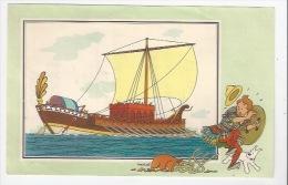 CHEQUE TINTIN - HERGE - VOIR ET SAVOIR - MARINE  - BATEAU - DROMON BYZANTIN - SERIE 7 -  N° 13 - - Vieux Papiers