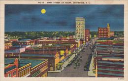 Main Street At Night Greenville South Carolina