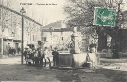 83 TOURTOUR FONTAINE DE LA PLACE BELLE ANIMATION SUPERBE - France