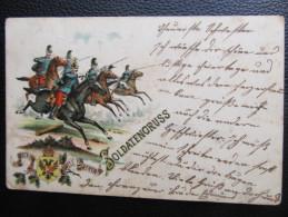 AK MILITARIA Soldatengruss Litho Einer f�r alle.... 1900  ///  u2804