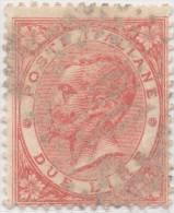 SI53D Italia Italy Regno 1863 2 L. - Effigie Di Vittorio Emanuele II Entro Un Ovale  Usato ANNULLO NUMERALE 96 - 1861-78 Vittorio Emanuele II