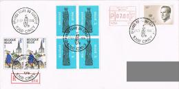"""Belgique - (R) - Oblitération """"Grande Foire Du Condroz - Brocante & Antiquités"""" - Ciney 21 Jul 86 - Storia Postale"""
