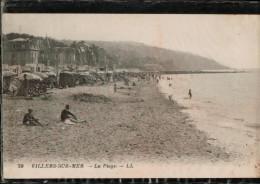 Cpa 70  VILLERS.SUR.MER.  La Plage. LL,   Animée - Villers Sur Mer