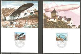 2 Cartes Du Liechtenstein / Poste Aérienne /1979 - Luchtpostzegels