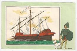 CHEQUE TINTIN - HERGE - VOIR ET SAVOIR - MARINE  - BATEAU - GALÉASSE DE LÉPANTE - 1571  - SERIE 7 -  N° 34 - - Vieux Papiers