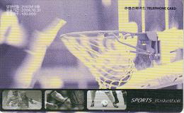 SOUTH KOREA - Sports/Basketball, Korea Telecom Telecard(W3000), Used - Deportes