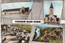 Cpsm  50  Conde-sur-vire..multivues Du Village - Autres Communes