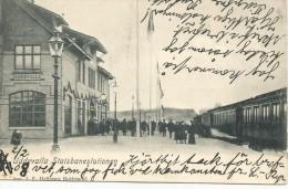 1903 UDDEVALLA JARNVAGSSTATION TRAIN STATION POSTCARD - Zweden