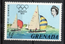 Grenada 1972 - Olimpiadi Di Monaco, Olympic Games Munich Regata Regatta MNH ** - Grenada (...-1974)