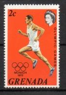 Grenada 1972 - Olimpiadi Di Monaco, Olympic Games Munich Corsa Running MNH ** - Grenada (...-1974)