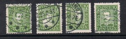 DANEMARK N°153 A 156 - Used Stamps