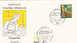 3170- VOLUNTARY HELPERS, NURSING AID, COVER FDC, 1970, GERMANY - Jobs
