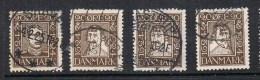 DANEMARK N°161 A 164 - Used Stamps