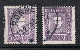 DANEMARK N°157 ET 160 - Used Stamps