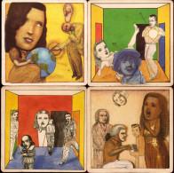 1664 - L´Art Entre Dans Les Bars. Collection De 4 Sous Bock´Art 1994 De Pat Andrea (série Complète) - Portavasos