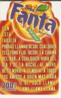 TARJETA DE ESPAÑA DE FANTA DE LA MARCA COCA-COLA (COKE) - Publicidad