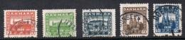 DANEMARK N°122 A 126 - Used Stamps
