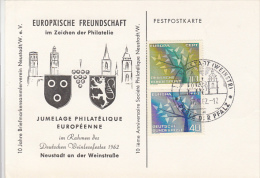 3234- EUROPA CEPT STAMPS, PHILATELIC EXHIBITION SPECIAL POSTCARD, 1962, GERMANY - [7] Federal Republic