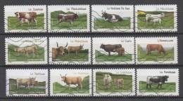 SERIE FRANCE : 2014 Oblitéré : Les Vaches De Nos Régions - KlebeBriefmarken