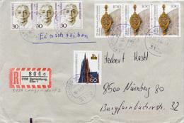 K2408 Einschr. Brief Bund St. Langendorf R-Zettel Dannenberg - Covers