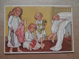 38162 PC: CHILDREN:  Illustration By Ida Waugh For Holly Berries. - Children