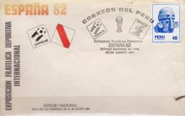 G)1981 PERU, WORLD SOCCER CHAMPIONSHIP SPAIN 82-NARANJITO MASCOT-TROPHY, CARVED STONE HEAD HUAMACHUCO TRIBE, INTERNATION - Peru