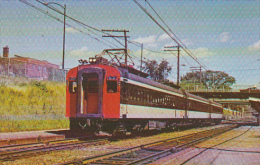 Canadian National Railway General Electric Commuter Cars At Mt Royal 22 July 1970 - Strassenbahnen