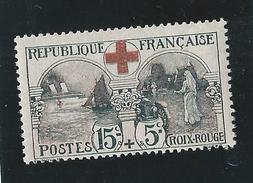 Timbre N°156 -  Au Profit De La Croix Rouge - Neuf Sans Charnière - 1918 - France