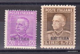 1928-'29 Italie Regno ERITREA  Overprint sas 136/137  Yvt 130/131  CPL   MNH/ *** - 2 scan