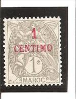 TIMBRES DE FRANCE 1902 - 1903  Surchargés  Valeur En Monnaie Espagnole   N° 20*  Sans Gomme - Unused Stamps