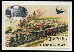 25  BAUME  Les  DAMES   ......  TRAIN  ..souvenir  Creation Moderne Série Limitée Et Numerotée 1 à 10 ... N° 6/10 - Baume Les Dames