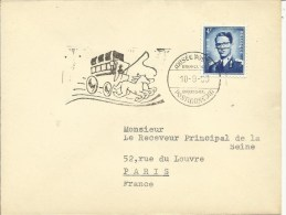 1953  Cachet Musée Postal Sur Lettre Vers Paris - Otros