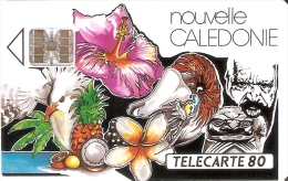 TARJETA DE NUEVA CALEDONIA DE 80 UNITES DE UN MOSIACO DE BERNARD TIRADA 45000 - Nuova Caledonia
